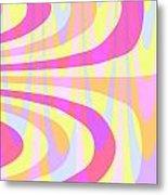 Seventies Swirls Metal Print by Louisa Knight