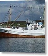 Sf-5-nv Visiting Shetland Metal Print by George Leask