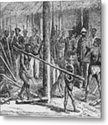 Shaka Slave Market In Africa Metal Print by Everett