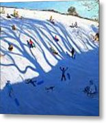 Shandows On A Hill Monyash Metal Print by Andrew Macara