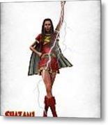 Shazam - Mary Marvel Metal Print by Frederico Borges