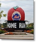Shea Stadium Home Run Apple Metal Print by Rob Hans