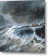 Shipwreck Metal Print by Louis Isabey