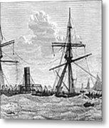 Shipwrecks, 1875 Metal Print by Granger