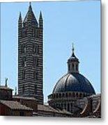 Sienna's Duomo Metal Print by Elizabeth Fontaine-Barr