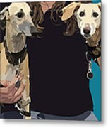 Sighthounds Metal Print by Kris Hackleman