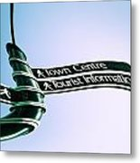 Sign Post Metal Print by Tom Gowanlock