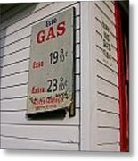 Signs On A Historic Gas Station Offer Metal Print by Amy White & Al Petteway