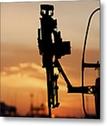 Silhouette Of A M240g Medium Machine Metal Print by Terry Moore