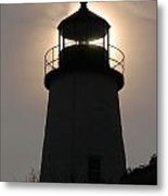 Silhouetted Pemaquid Lighthouse Metal Print by Darlyne A. Murawski