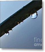 Silky Droplet Metal Print by Kaye Menner