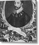 Sir Francis Drake, English Explorer Metal Print by Photo Researchers, Inc.