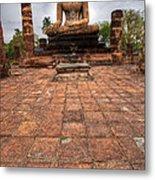 Sitting Buddha Metal Print by Adrian Evans