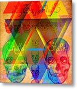 Skulls And Skulls Metal Print by Pierre Louis