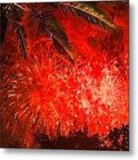 Sky Fire Metal Print by Debra and Dave Vanderlaan