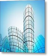 Skyscrapers In The City Metal Print by Setsiri Silapasuwanchai