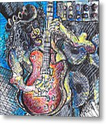 Slash Distortion  Metal Print by Jon Baldwin  Art