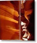 Slot Canyon Shaft Of Light Metal Print by Garry Gay
