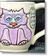 Smart Kitty Mug Metal Print by Joyce Jackson
