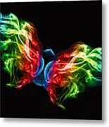 Smoke Butterfly Metal Print by Alice Gosling