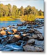 Smooth Rapids Metal Print by Robert Bales