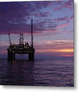 Snorre Sunset Metal Print by Charles and Melisa Morrison