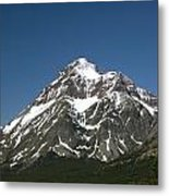 Snow Covered Mountain Metal Print by Amanda Kiplinger
