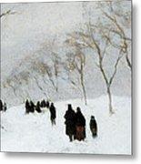Snow Storm Metal Print by Anton Mauve