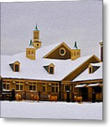 Snowy Day At Erdenheim Farm Metal Print by Bill Cannon