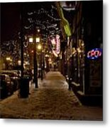 Snowy Downtown Metal Print by Laurianna Murray