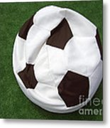 Soccer Ball Seat Cushion Metal Print by Matthias Hauser