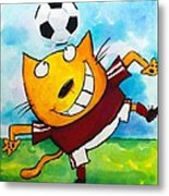 Soccer Cat 4 Metal Print by Scott Nelson