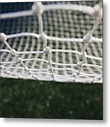 Soccer Net Metal Print by Paul Edmondson