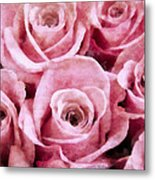 Soft Pink Roses Metal Print by Angelina Vick