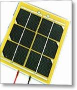 Solar Cell Metal Print by Friedrich Saurer
