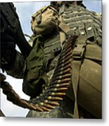 Soldier Mans A Vehicle Mounted 7.62 Mm Metal Print by Stocktrek Images