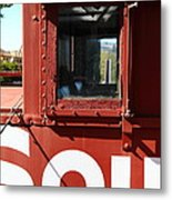 Southern Pacific Caboose - 5d19235 Metal Print by Wingsdomain Art and Photography