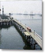 Soviet Caspian Sea Oil Fields, 1978 Metal Print by Ria Novosti