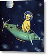 Space Bob Metal Print by Leah Saulnier The Painting Maniac