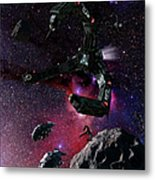 Space Scene Inspired By The Novels Metal Print by Rhys Taylor