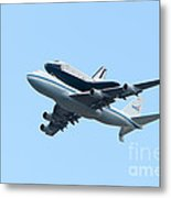 Space Shuttle Enterprise Arrives In New York City Metal Print by Clarence Holmes