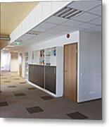 Spacious Office Hallway Metal Print by Jaak Nilson