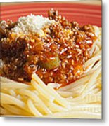 Spaghetti Bolognese Dish Metal Print by Andre Babiak