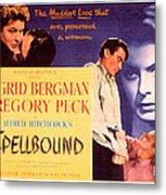 Spellbound, Ingrid Bergman, Gregory Metal Print by Everett