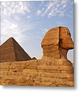 Sphinx Of Giza Metal Print by Jane Rix