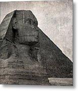 Sphinx Vintage Photo Metal Print by Jane Rix