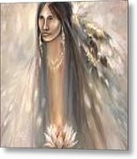 Spirit Woman Metal Print by Charles Mitchell