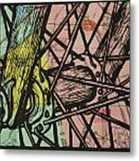 Spokes On Map Metal Print by William Cauthern