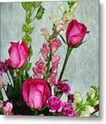 Spray Of Flowers Metal Print by Judi Bagwell
