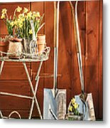 Spring Gardening Metal Print by Amanda And Christopher Elwell
